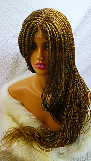 Trish: Natural looking micro braided lace wig with baby hair for black women