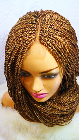 Nicole: 180% density Hand Braided  Lace Wig For Sale