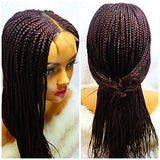 JEN: Braided wig with closure. Frontal braided wig for black women