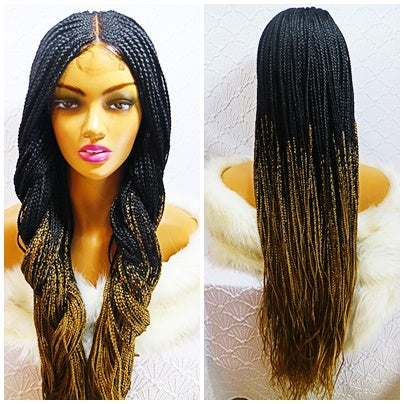 Kim: Braided wig with closure. Frontal braided