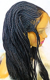 KIMANI: Cornrow braided wig with 100% premium braiding fiber on sale