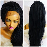KIYA: Box braid wig on sale, color Black