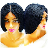 RENA: density 180% Single Micro braided wig with a 2x4 lace front