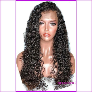 Ashanti: Glueless Curly Full Lace Brazilian Hair Wig