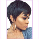 Jada: Pixie Cut 130% Density Short Bob Wig
