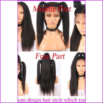 Lacey: 150% Density Kinky Straight Lace Front Human Hair Wig