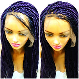 Box braid wig on sale, color purple