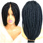Large Box braid wig on sale, color Jet black