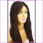 Pearl: Neatly Braided Lace Front Wig Cap. Color J99
