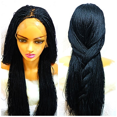Affordable Braided Wig with baby hair