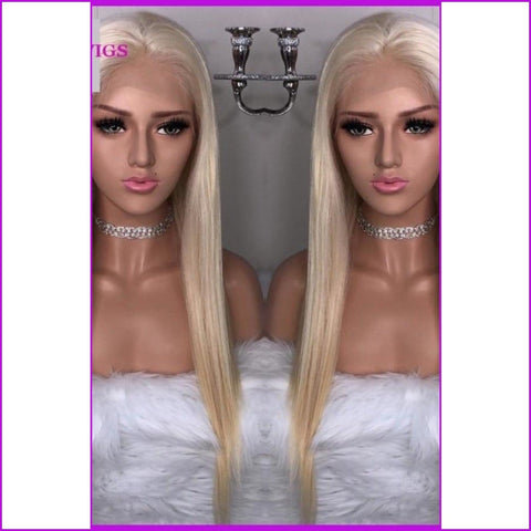 Roxy: #613 Blonde Lace Front Human Hair Wig