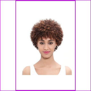 Ruah: Brazilian Remy Hair Short Afro Kinky Curly Wig