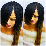 STARR: Micro braid wig with baby hair on a 2x4 lace closure.