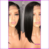 Tess: T1/pink Color Lace Front Straight Brazilian Hair Wig