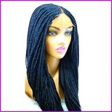 Tia: Cornrow Braided Lace Front Wig Cap With Baby Hair