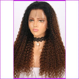 Toya: #1B/#4 Color Curly Lace Front Human Hair Wig