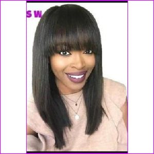 Vera: Straight Wig Remy Brazilian Hair With Bangs