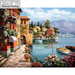 "DIY Diamond Painting ""River Path"" Cross Stitch Rhinestone Mosaic Painting"
