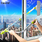 Telescopic High-Rise Window Glass Cleaner Brush