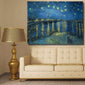 'Starry Night Over the Rhone' Printed Canvas Oil Painting for Living Room