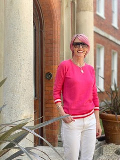 philly shocking pink cashmere jumper