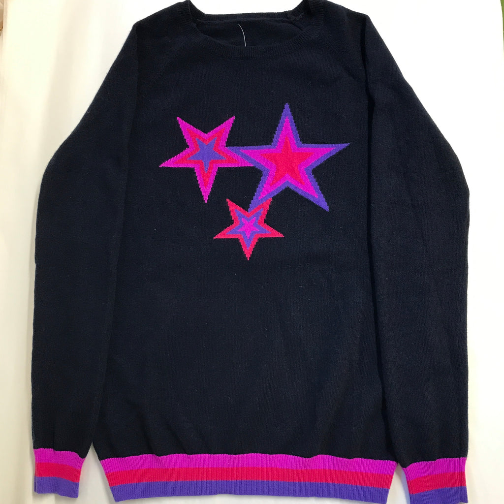 sample - berry navy (purple & blue stars)