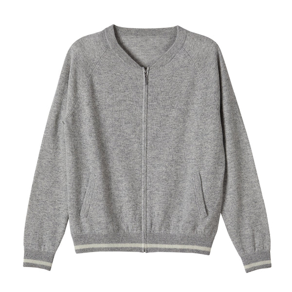 grace grey cashmere bomber