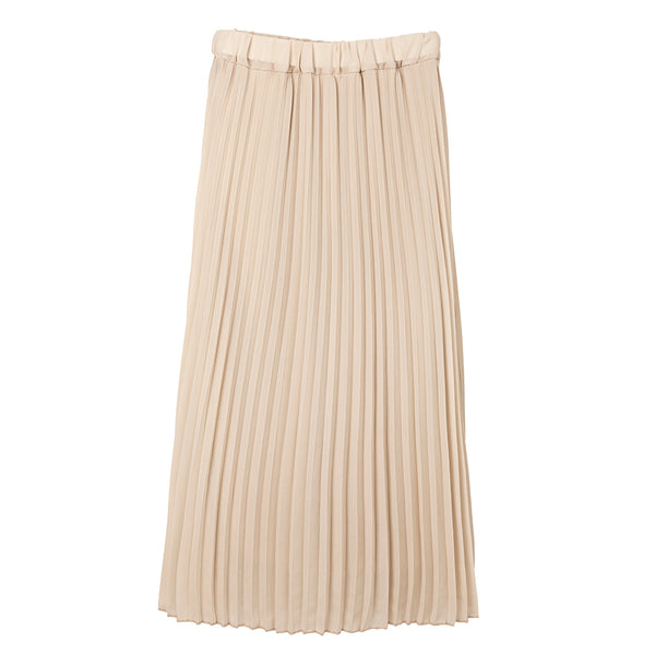 sadie champagne pleated midi skirt