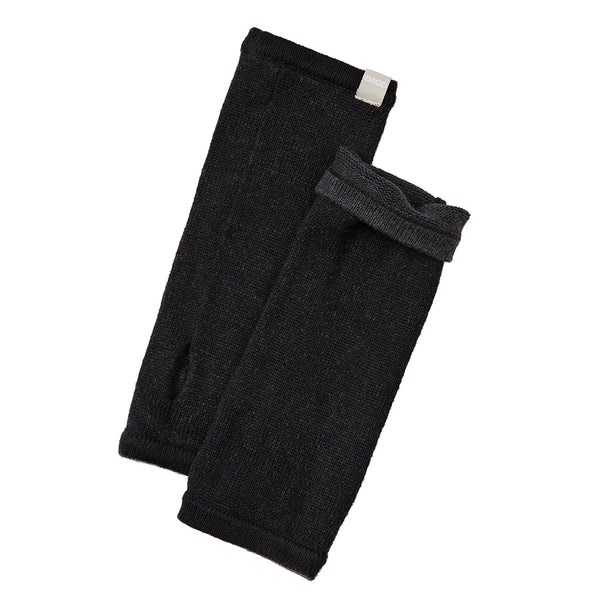 cotton cashmere reversible wrist warmers
