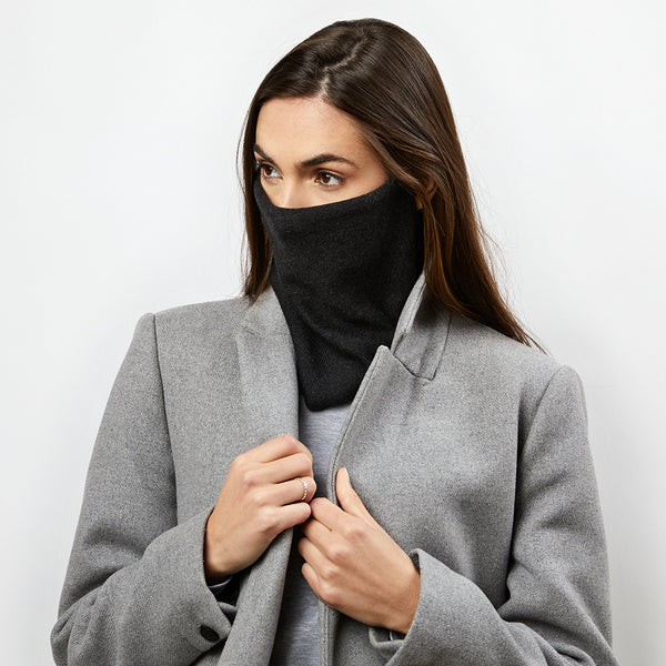 cotton cashmere reversible snood / face covering