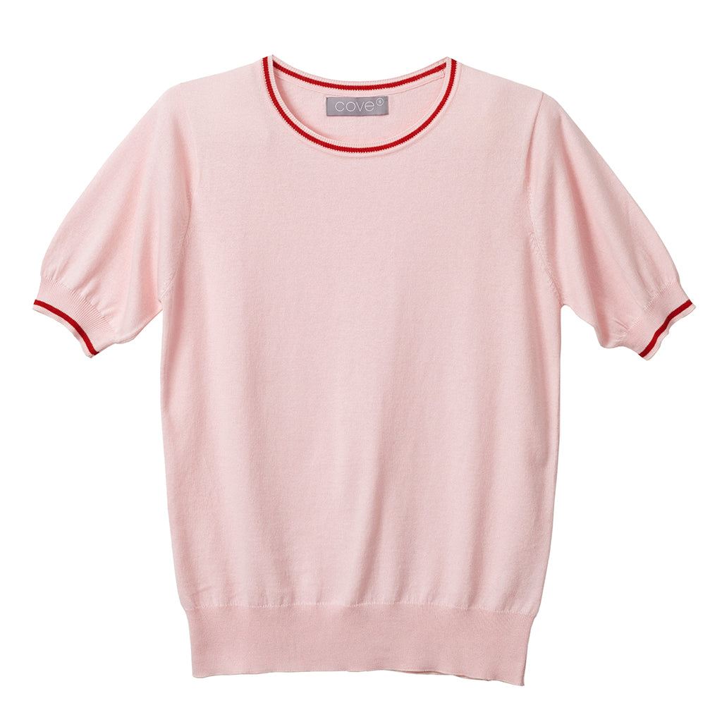 tabitha cotton cashmere blush pink tee