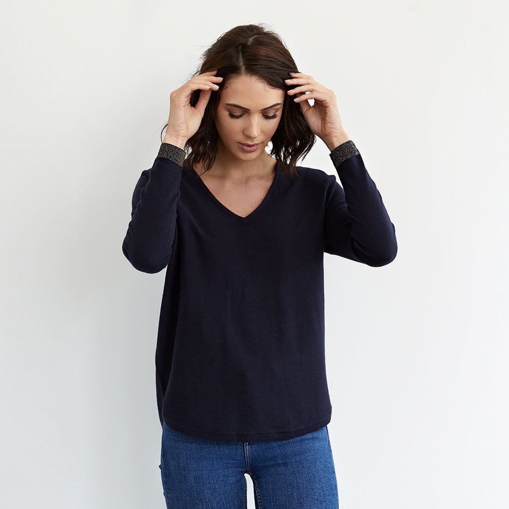 lara cotton cashmere sparkle jumper