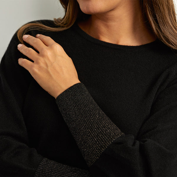 ivy black sparkle cashmere jumper