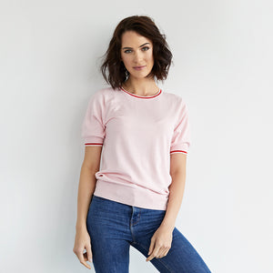 tabitha cotton cashmere pink tee