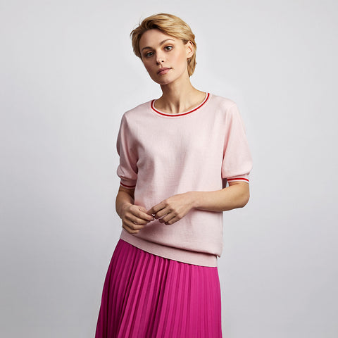 sadie hot pink pleated midi skirt