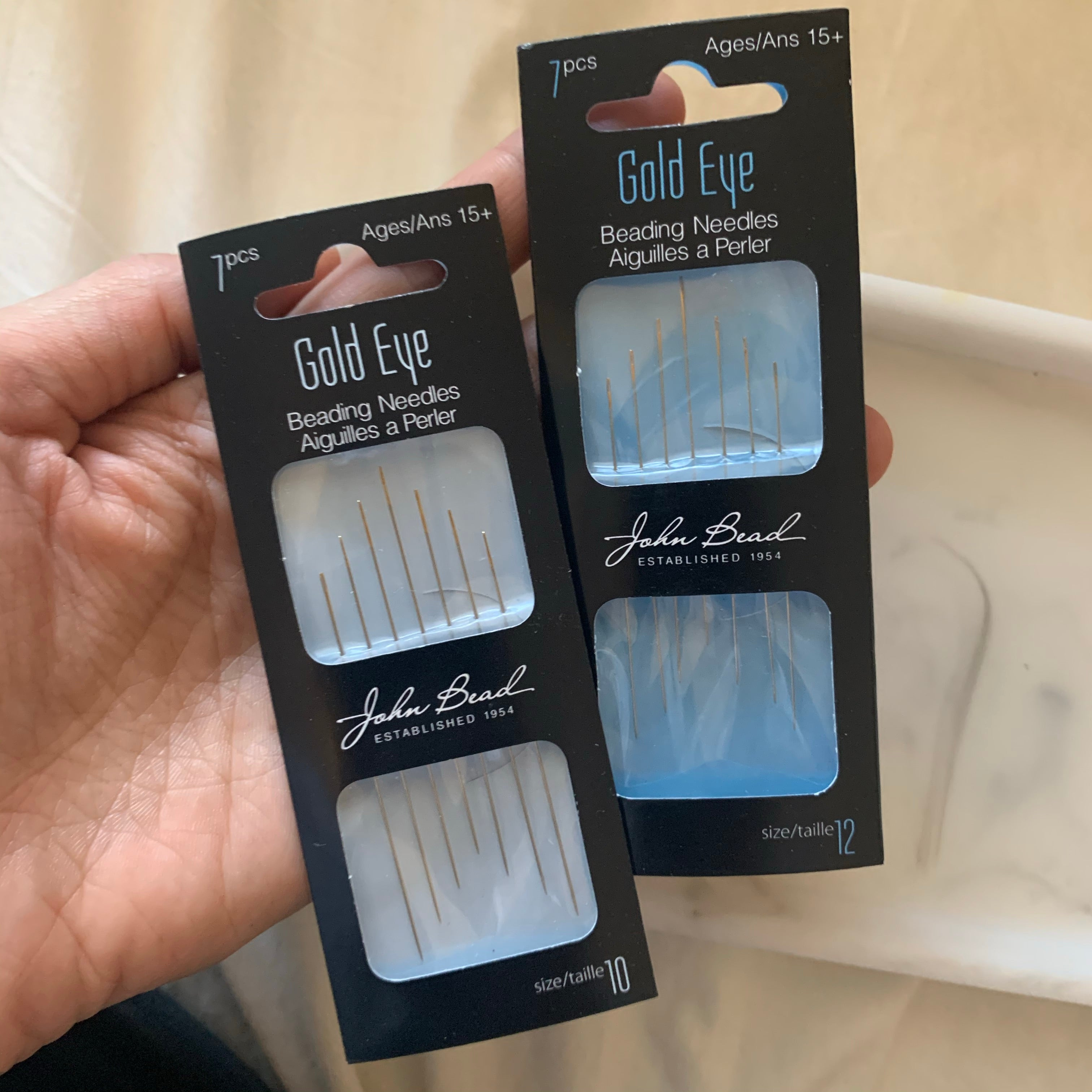 Gold Eye beading needles