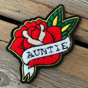 chenille AUNTIE patch