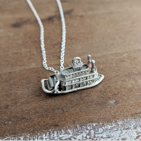 Sterling Antique Riverboat Necklace