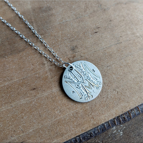 Silver Dime Love Token Necklace