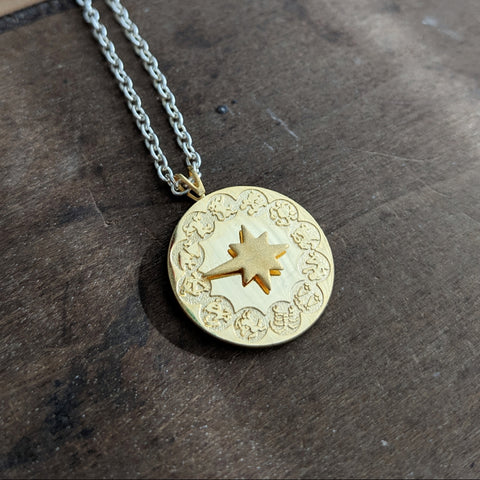 Vintage Zodiac Spinner Necklace