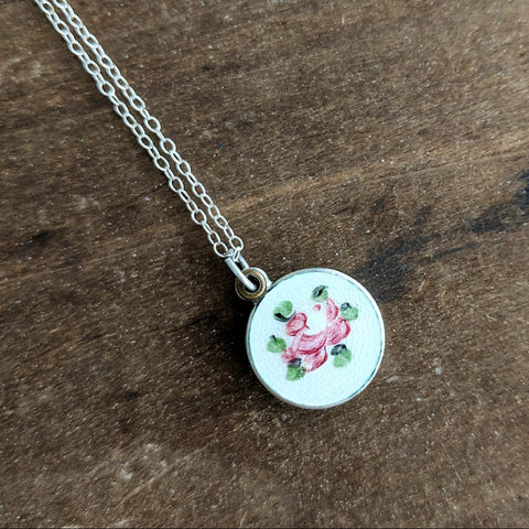 Antique Floral Saint Necklace