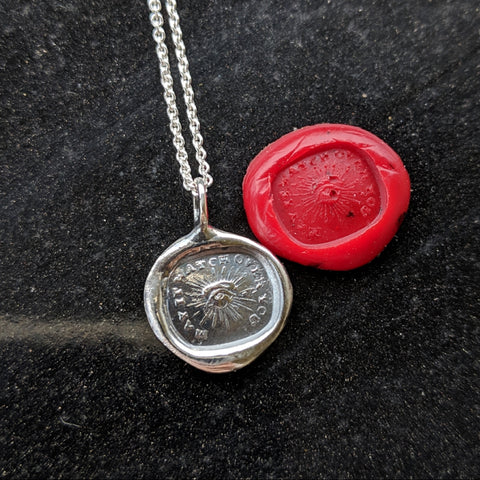 May It Watch Over You Wax Seal Necklace