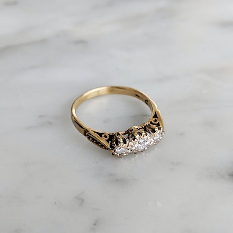 Antique English Diamond Ring