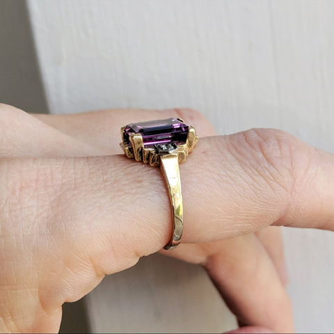 Antique Art Deco Alexandrite Ring