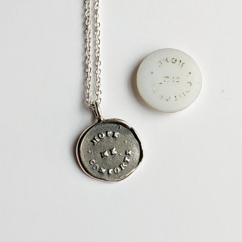 Hope Comforts Me Wax Seal Necklace