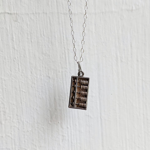Antique Sterling Silver Mailbox Necklace