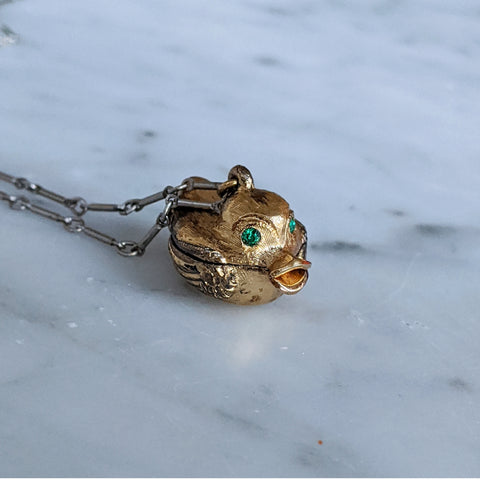 Vintage Treasure Duck Necklace