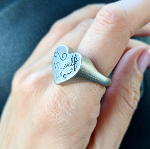 Myself Heart Signet Ring