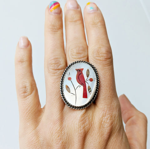Antique Mosaic Cardinal Ring