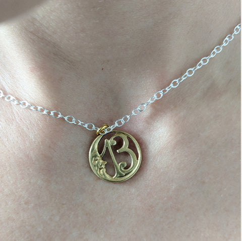 Vintage Lucky Crescent Moon Necklace
